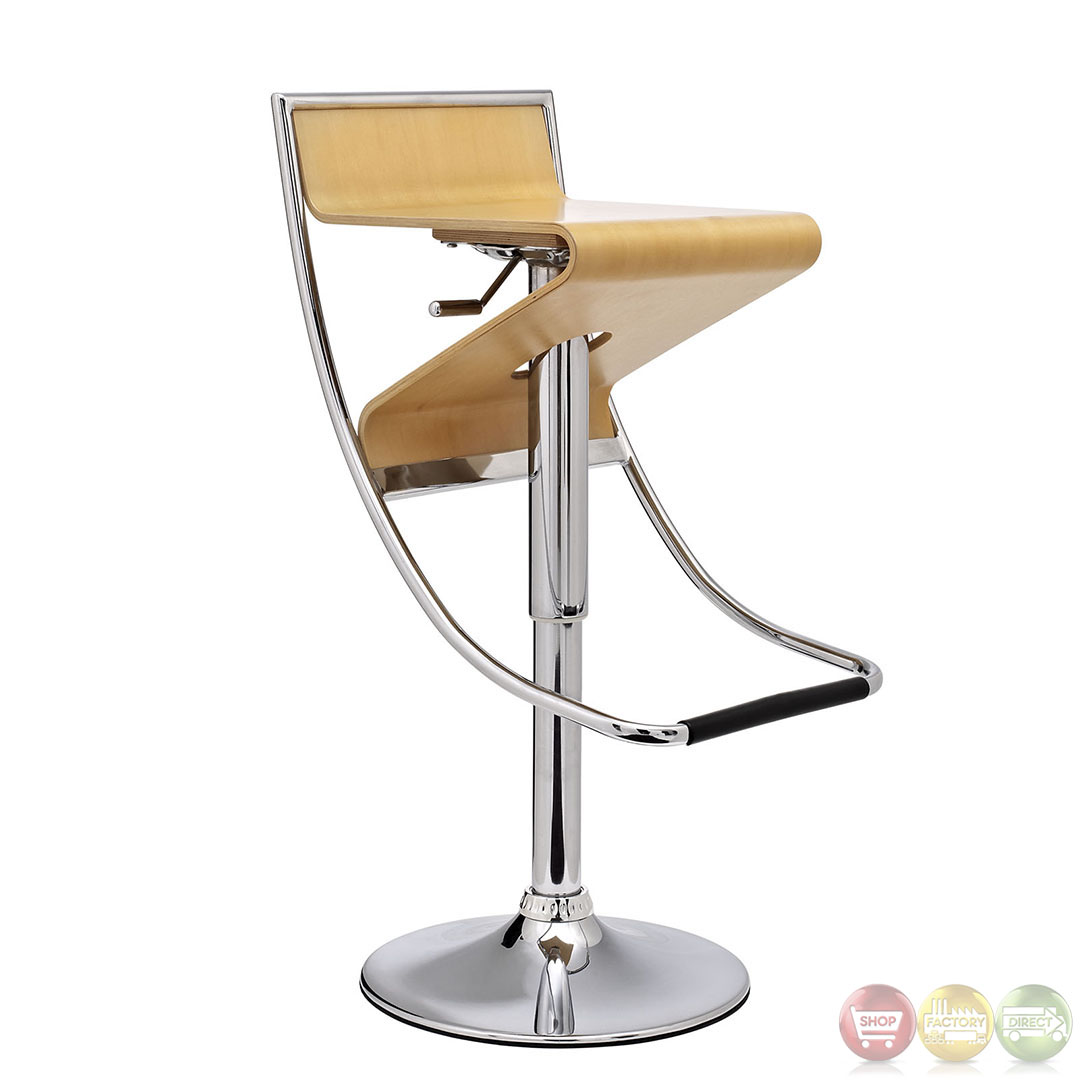 ... Contemporary Modern Bar Stool with Hydraulic Adjustable Height EEI-693