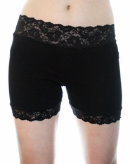 "1.5"" Black or White Stretch Lace Shorts"