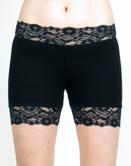 "2.5"" Black Stretch Lace Shorts"