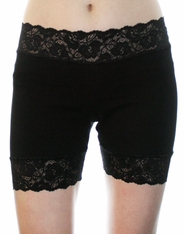 "2.5"" Black or White Stretch Lace Shorts"
