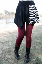 Asymmetrical Zebra and Black Skirt