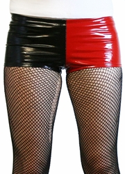 Black and Red Vinyl Harley Quinn Booty Shorts