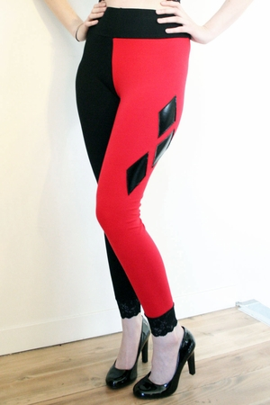Cotton Harley Quinn Diamond Leggings