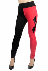 Full Length Cotton Harley Quinn Diamond Leggings
