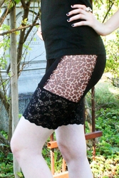 Leopard Mesh Stretch Lace Shorts