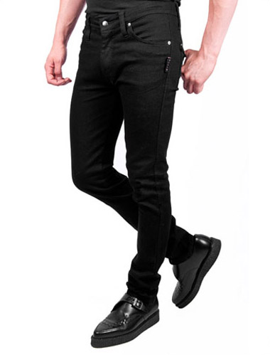 Men's Black Stretch Jeans Tripp NYC Trash and Vaudeville Punk Jeans