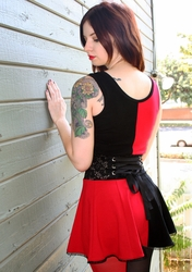 Red and Black Harley Quinn Mini Dress