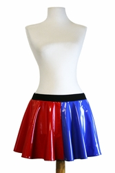 Red and Blue Vinyl Harley Quinn Circle Skirt