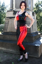 Red and Black Harley Quinn Leggings