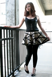 Steel Squares and Circles Skirt