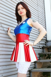 USO Girl Dress (inspired by Captain America)