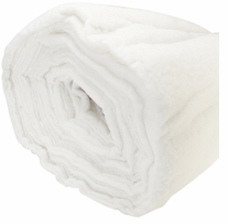 Fusion Bonded Cushion Wrap White 54inx50ft 1oz