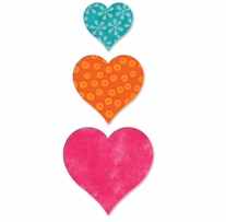 """AccuQuilt GO! Dies Heart 2in, 3in, 4in <font color=""""#cc0000"""">Sale!</font>"""