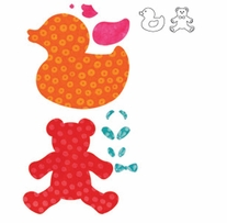 """AccuQuilt GO! Fabric Cutting Dies Baby, Baby <font color=""""#cc0000"""">Sale!</font>"""