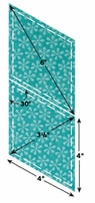 AccuQuilt Go Fabric Cutting Dies Diamonds 4inx4in