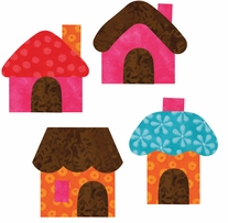 AccuQuilt GO! Fabric Cutting Dies Small Houses By Reiko Kato