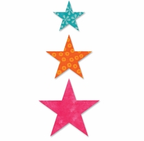 AccuQuilt GO! Fabric Cutting Dies-Star-2in, 3in, 4in