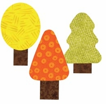AccuQuilt GO! Fabric Cutting Dies Trees By Reiko Kato
