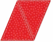 AccuQuilt GO! Fabric Cutting Dies Triangle Isosceles 5inX6in