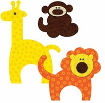 AccuQuilt GO! Fabric Cutting Dies Zoo Animals