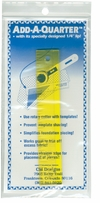 Add-A-Quarter Ruler 6in Clear Yellow