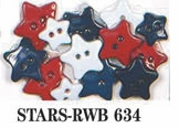 All American Dress It Up Embellishments Stars!
