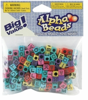 Alphabet Beads Assorted Color Beads With Black Letters