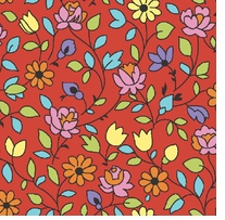 Arlee Calico Floral Red Fabric Bolt