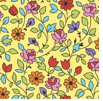 Arlee Calico Floral Yellow Fabric Bolt
