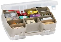 Art Bin 2-Sided Satchel Compartment Box