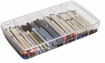 Art Bin Prism Box With 6 Compartments Translucent