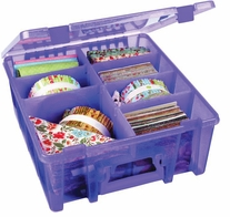 ArtBin Double Deep Super Satchel Translucent Purple