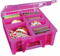 ArtBin Double Deep Super Satchel Translucent Raspberry