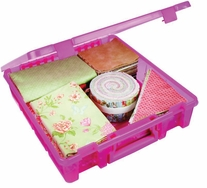 ArtBin Super Satchel Single Compartment Translucent Raspberry
