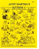 Aunt Martha's Iron-On Transfer Books Kittens
