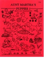 Aunt Martha's Iron-On Transfer Books Puppies