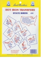 Aunt Martha's Iron-On Transfer Collections 50 State Birds