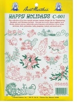 Aunt Martha's Iron-On Transfer Collections Happy Holidays