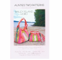 Aunties Two Patterns Bailey Island Hobo Bag