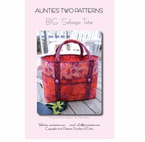 Aunties Two Patterns Big Sebago Tote