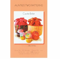 Aunties Two Patterns Cupcake Basket