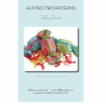 Aunties Two Patterns Taffy Pouch