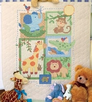 Baby Hugs Savannah Quilt Stamped Cross Stitch Kit - Click to enlarge