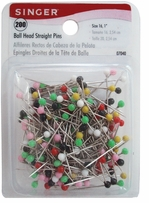 Ball Head Straight Pins Size 16 200/Pkg