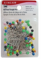 Ball Head Straight Pins Size 24 120/Pkg