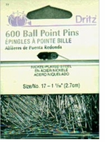 Ball Point Pins Size 17 600/Pkg