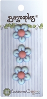 BaZooples Buttons Blue Flowers