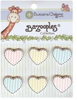 BaZooples Buttons Heart Medley