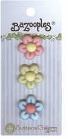 BaZooples Buttons Multi Flowers 3/pkg
