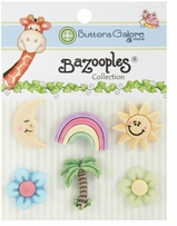 BaZooples Buttons Tropical Vacation